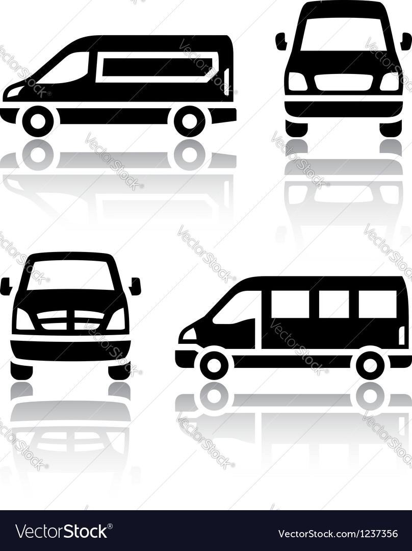 Set of transport icons - cargo van vector | Price: 1 Credit (USD $1)