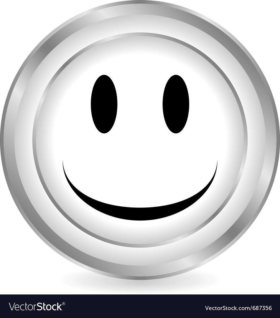 Smile face circle icon vector   Price: 1 Credit (USD $1)