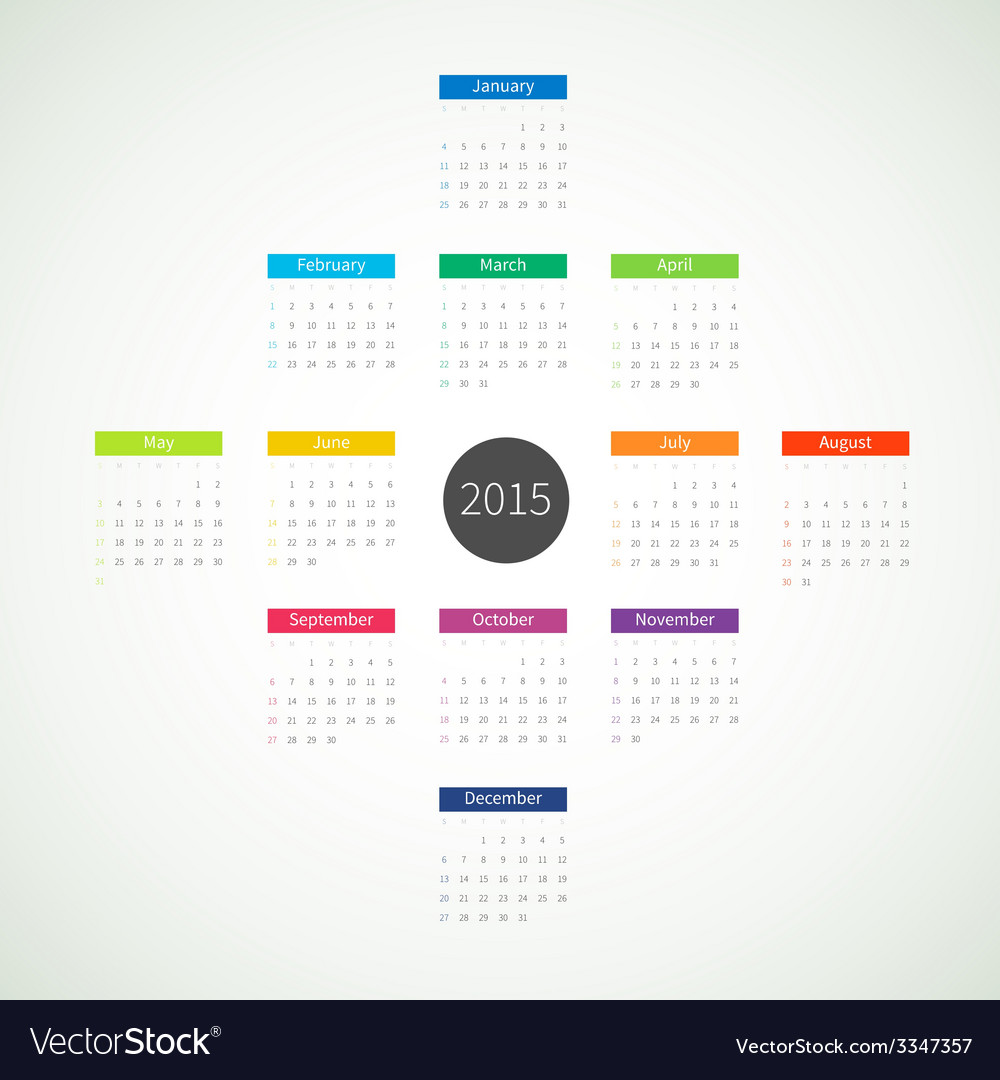 Abstract 2015 calendar vector | Price: 1 Credit (USD $1)