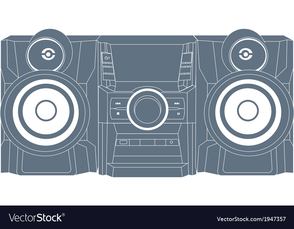 Audio system icon vector | Price: 1 Credit (USD $1)