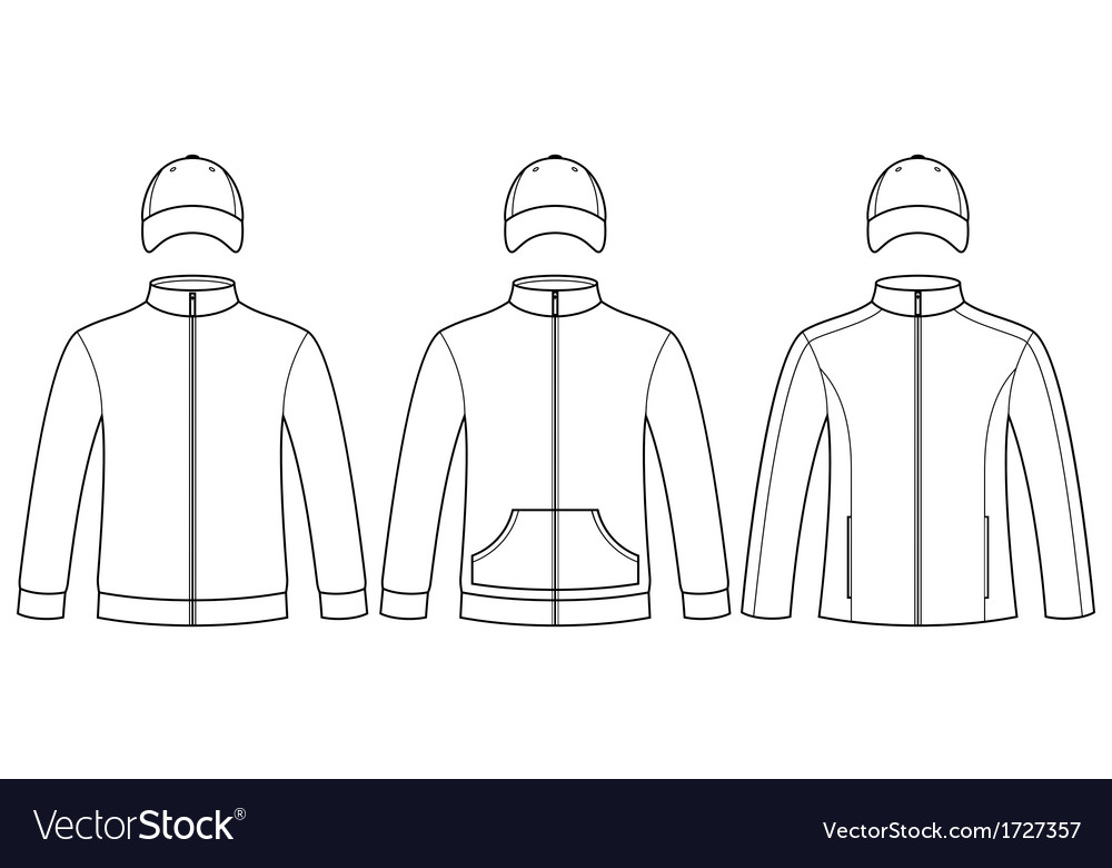Blank caps and sweatshirts template vector | Price: 1 Credit (USD $1)