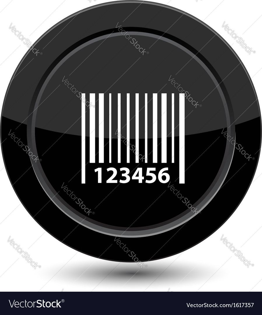 Button with barcode vector | Price: 1 Credit (USD $1)