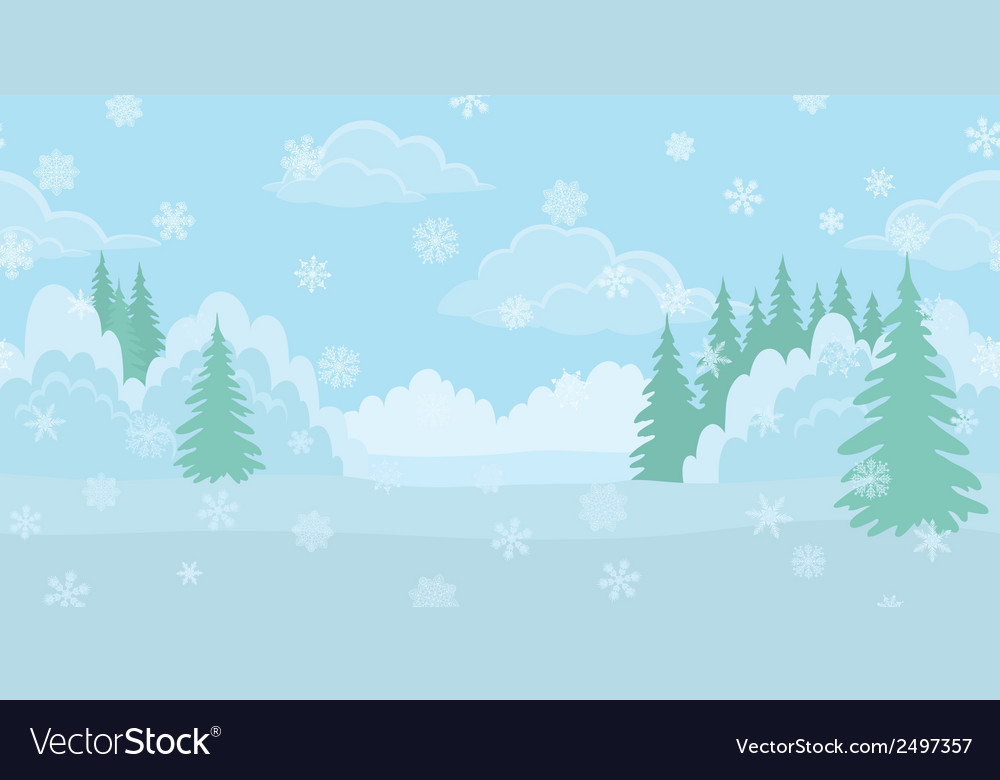 Christmas landscape winter forest vector | Price: 1 Credit (USD $1)