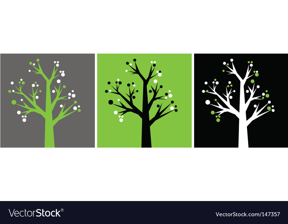 Decorative trees vector | Price: 1 Credit (USD $1)