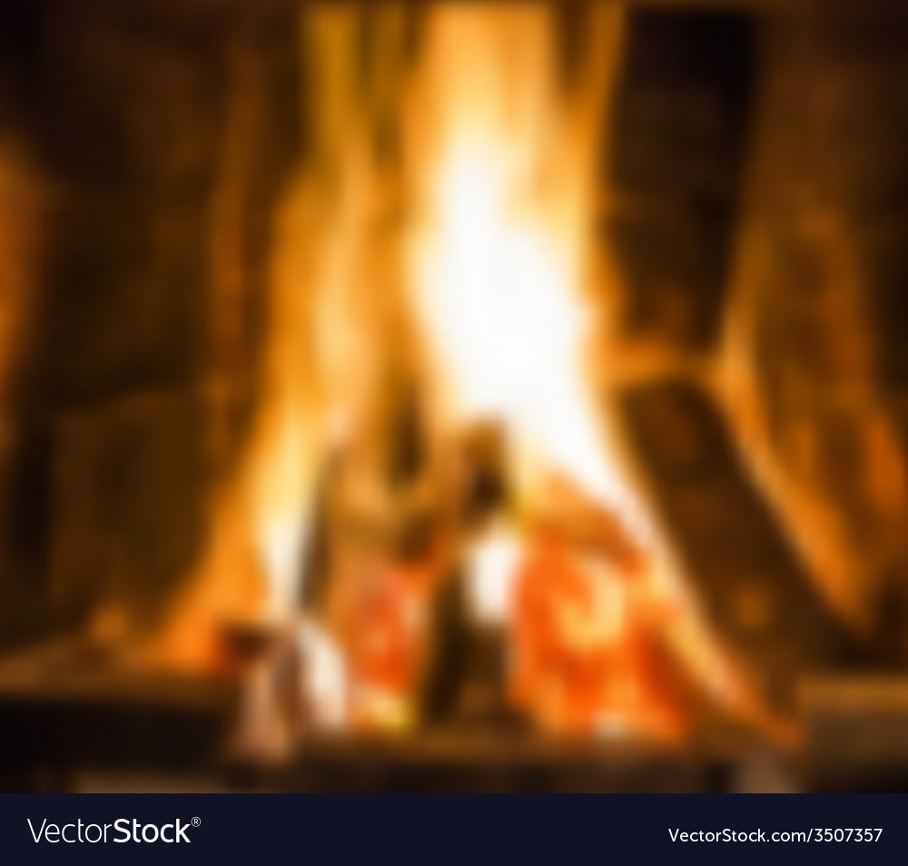Fireplace with fire vector | Price: 1 Credit (USD $1)