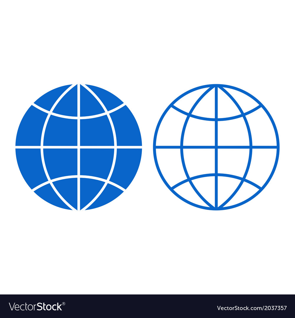 Globe sign vector | Price: 1 Credit (USD $1)