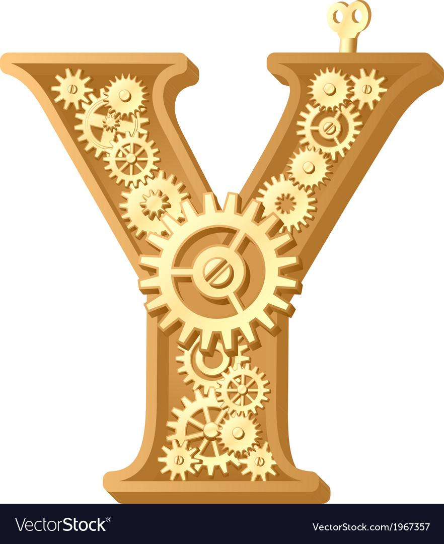 Mechanical alphabet vector   Price: 1 Credit (USD $1)