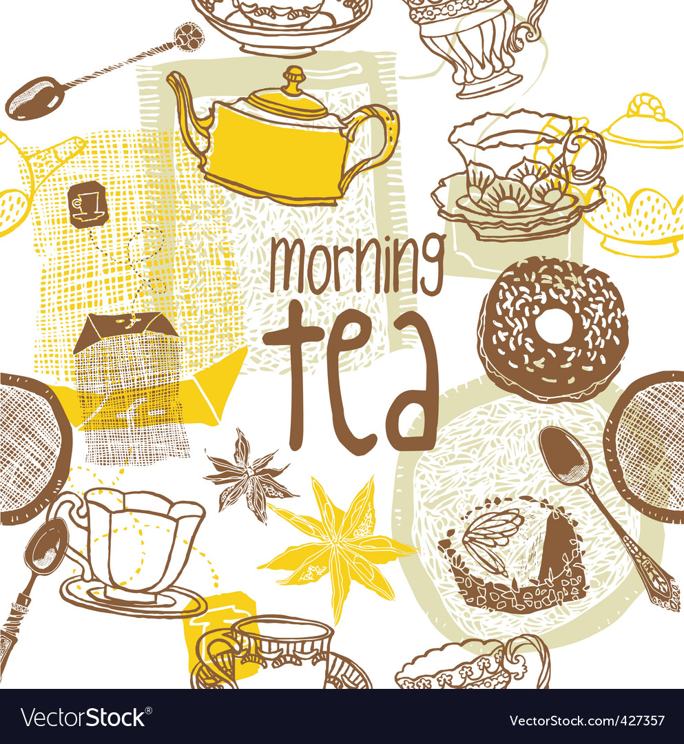 Morning tea background vector | Price: 1 Credit (USD $1)