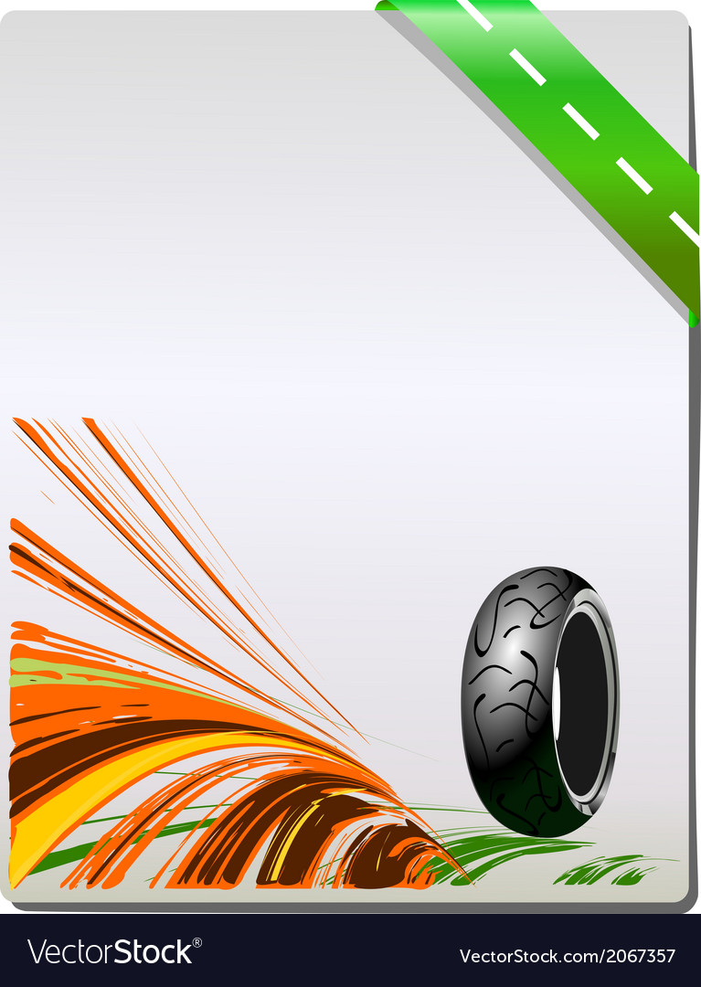 Motorcycle tire on grey background vector | Price: 1 Credit (USD $1)