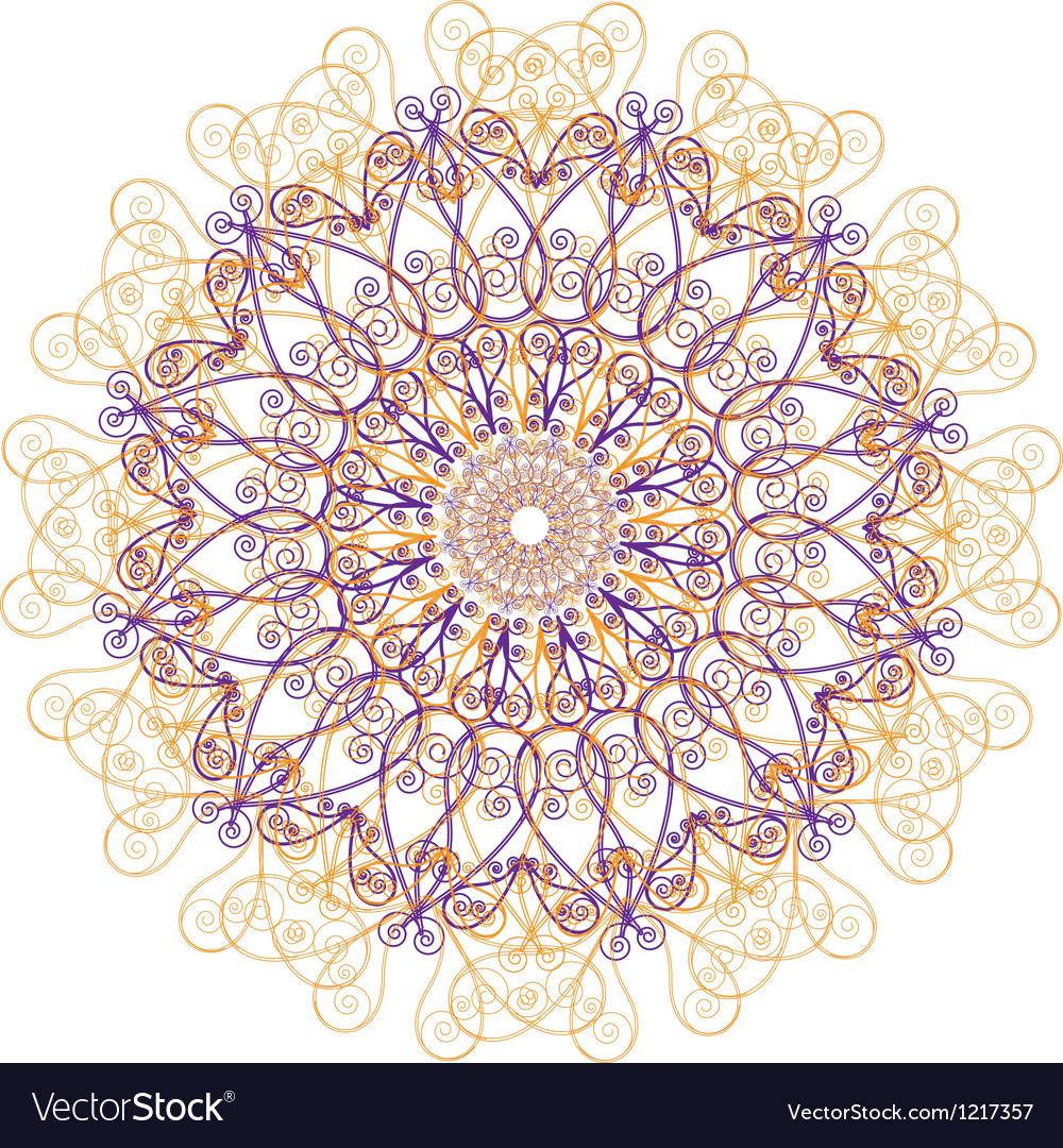 Ornamental round lace circle ornament vector | Price: 1 Credit (USD $1)