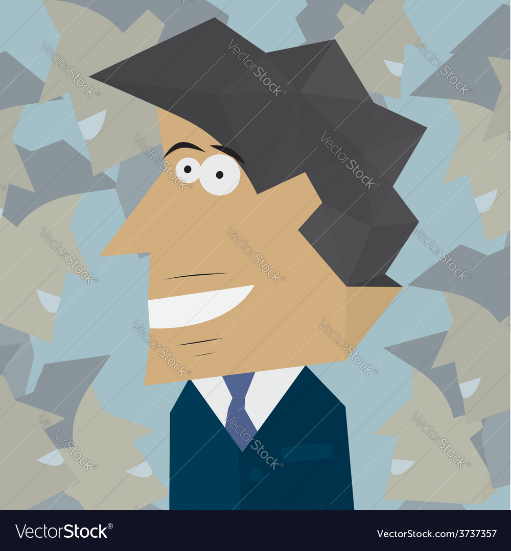 Portrait of young businessman smiling vector | Price: 1 Credit (USD $1)