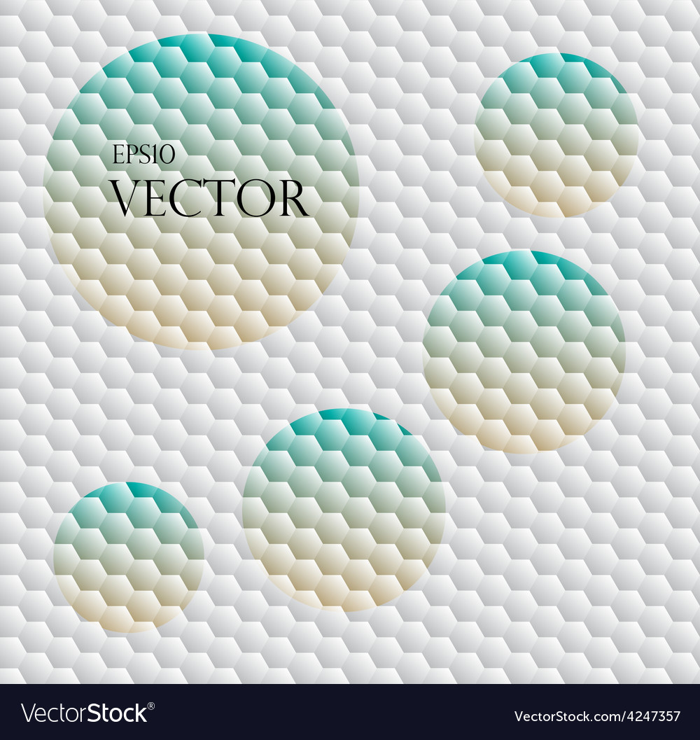 Seamless background with hex grid vector | Price: 1 Credit (USD $1)
