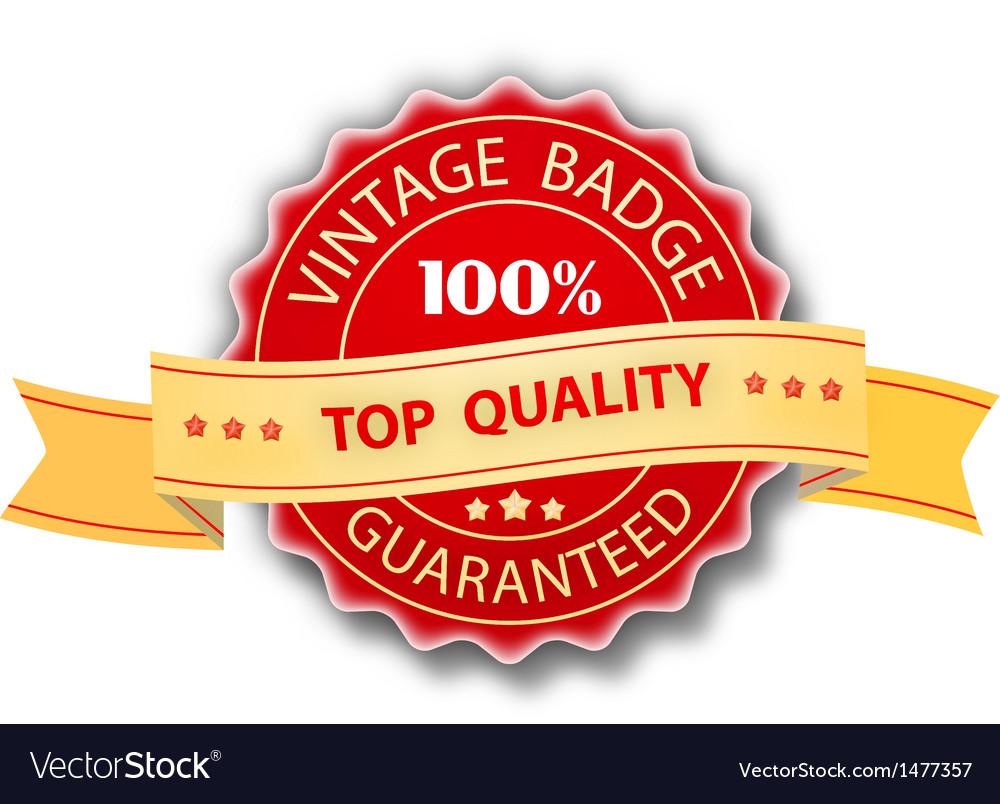 Vintage badge design vector | Price: 1 Credit (USD $1)