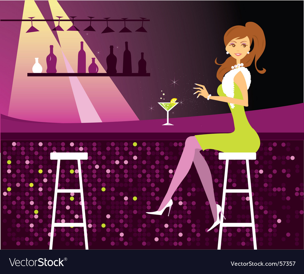Woman at the bar vector | Price: 3 Credit (USD $3)