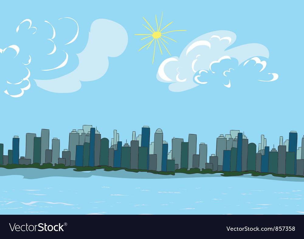 Cartoon new york background vector | Price: 1 Credit (USD $1)