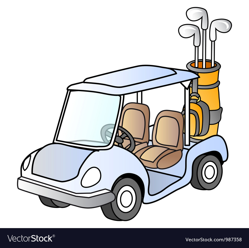 Golf car vector | Price: 1 Credit (USD $1)