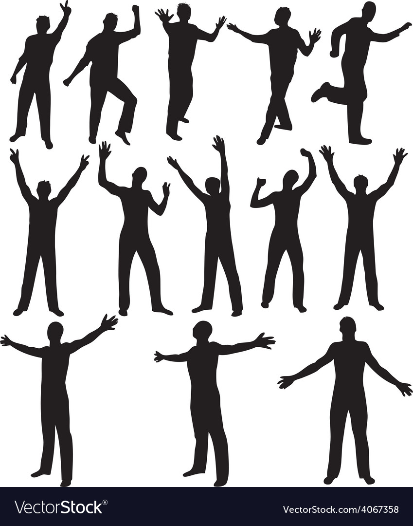 Male silhouettes vector | Price: 1 Credit (USD $1)