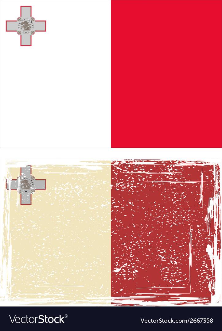 Maltese grunge flag vector   Price: 1 Credit (USD $1)