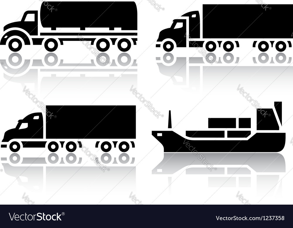 Set of transport icons - freight transport vector | Price: 1 Credit (USD $1)