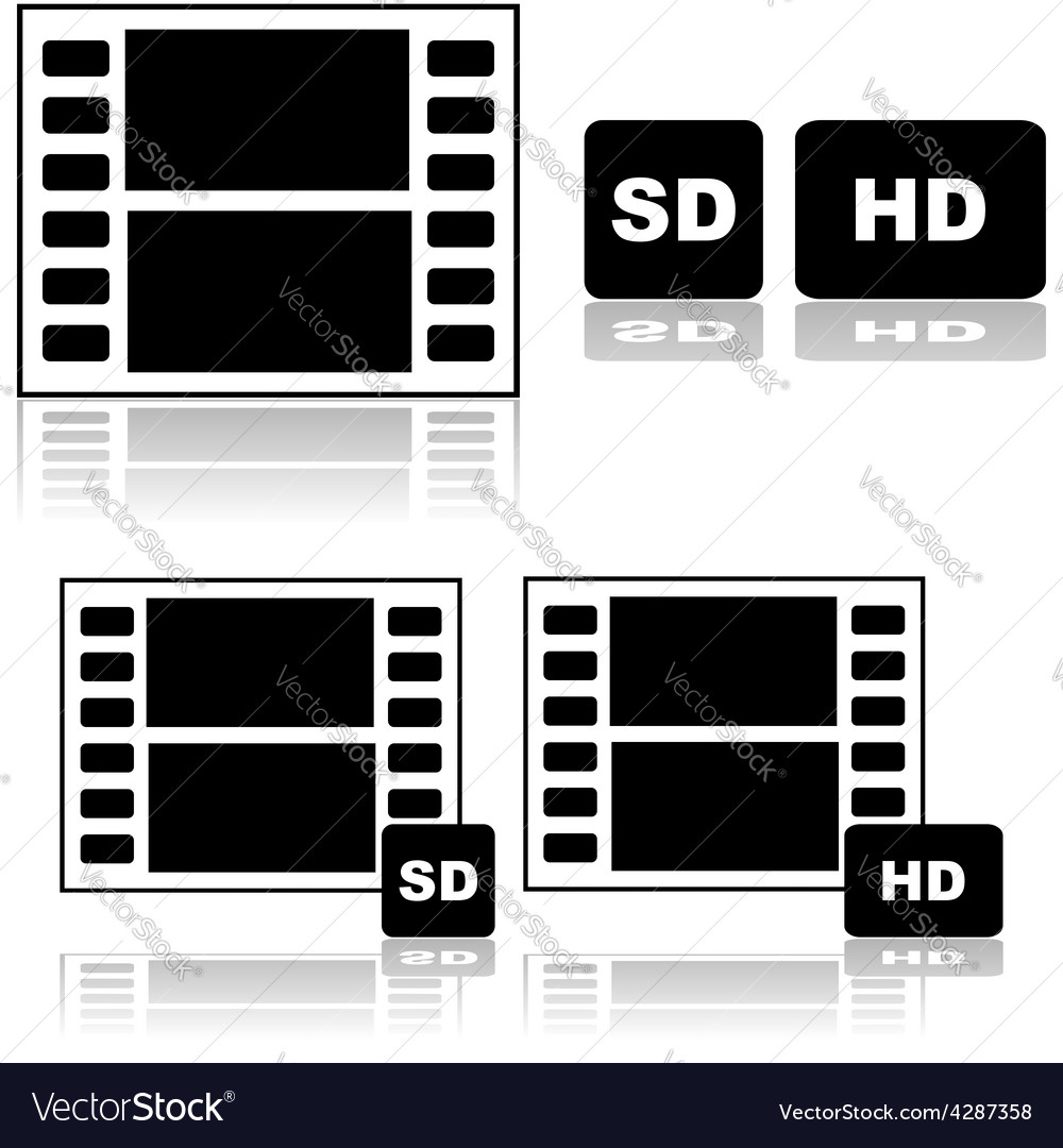 Standard and high definition movies vector | Price: 1 Credit (USD $1)