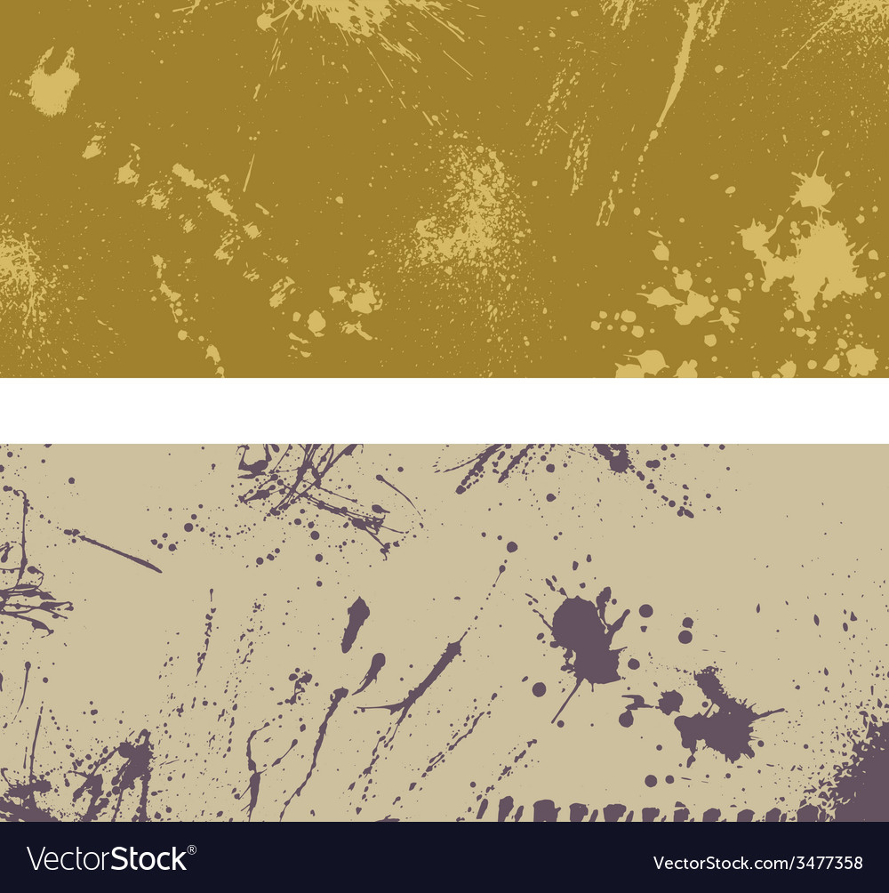 Two ink blots banner vector | Price: 1 Credit (USD $1)