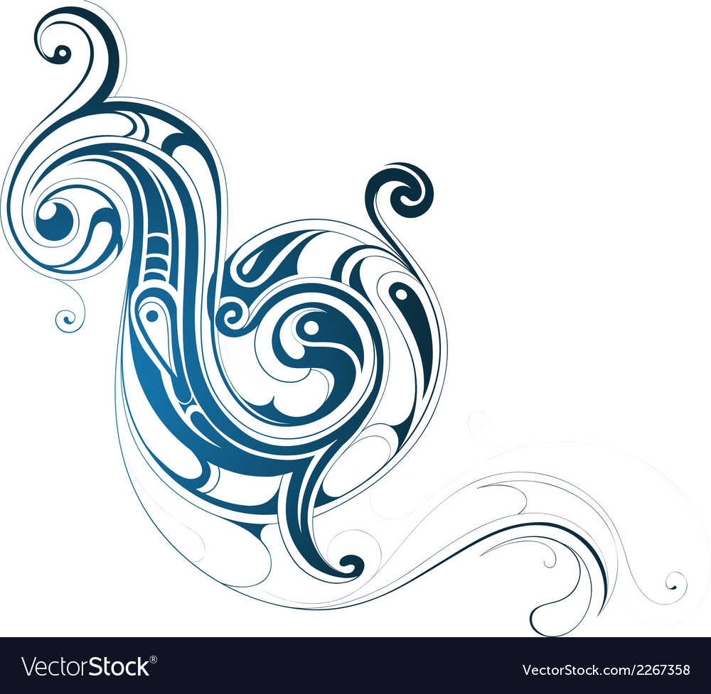 Water splash ornament vector | Price: 1 Credit (USD $1)