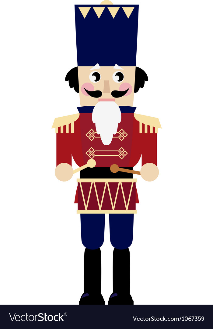 Cute retro nutcracker vector | Price: 1 Credit (USD $1)