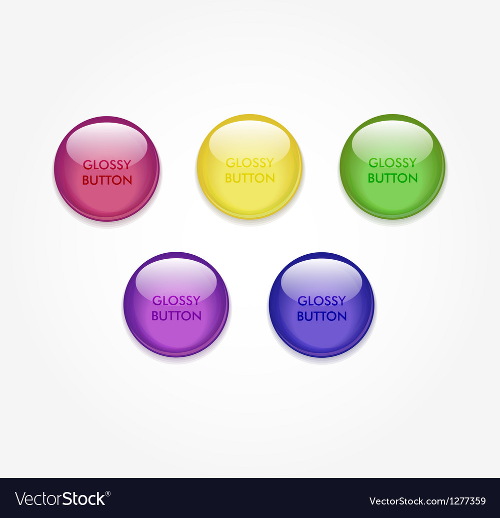 Glossy button vector | Price: 1 Credit (USD $1)