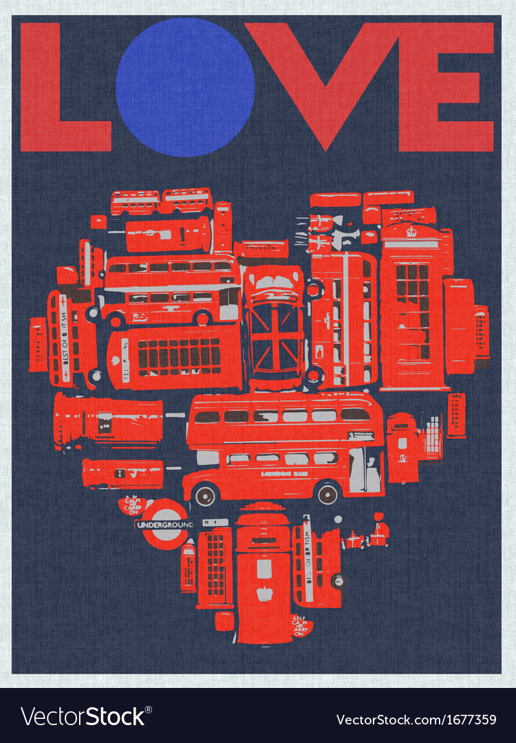 Love london vector | Price: 1 Credit (USD $1)