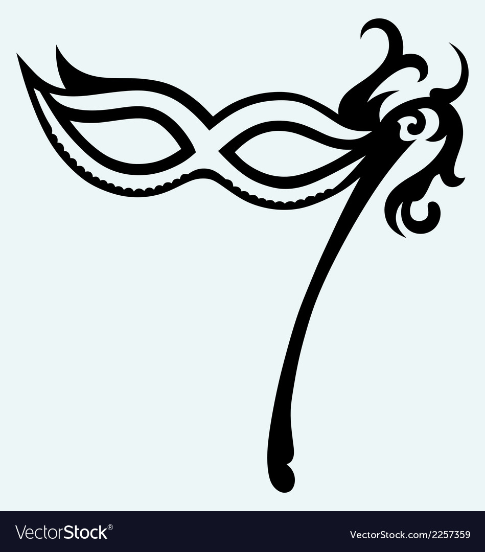 Mask for masquerade costumes vector