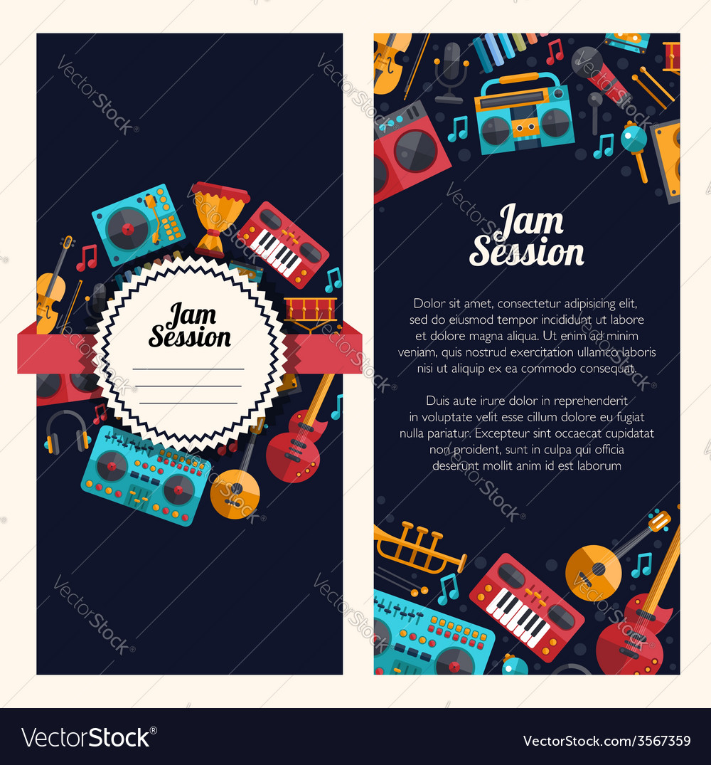 Modern flat design decorative invitation flyer t vector | Price: 1 Credit (USD $1)
