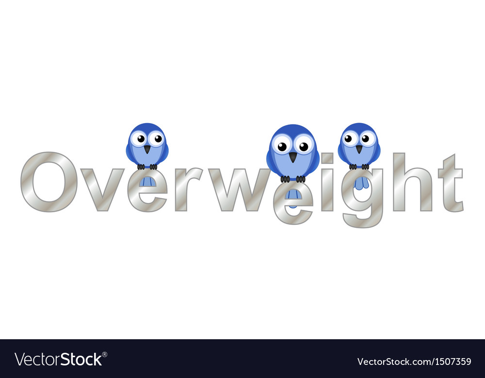 Overweight text vector | Price: 1 Credit (USD $1)