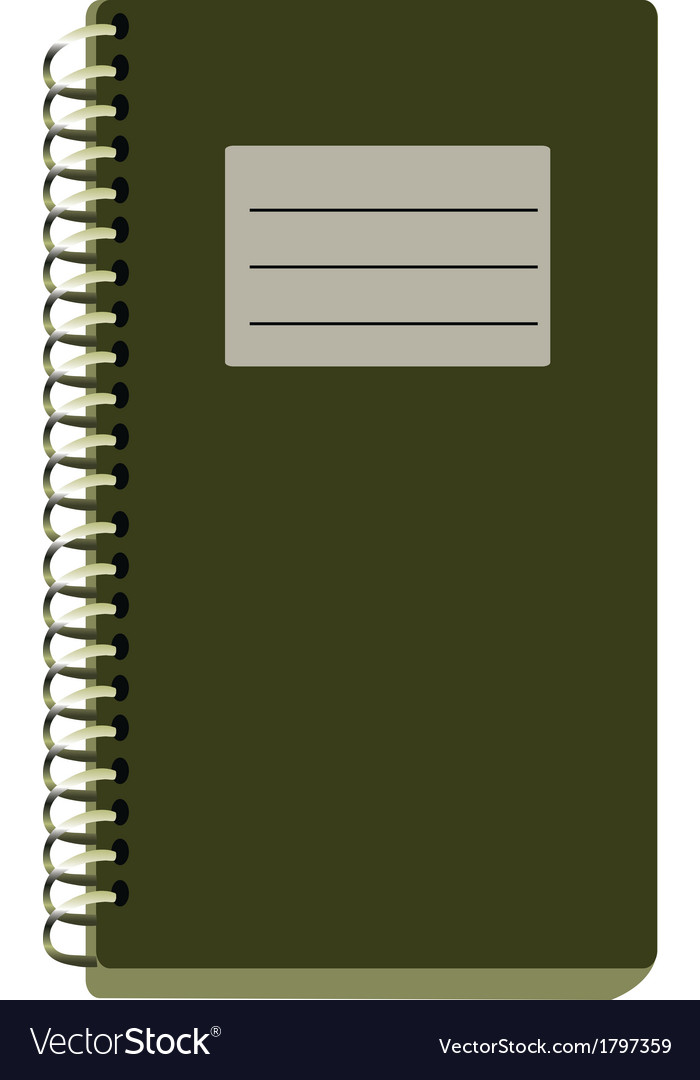 Paper notebook vector | Price: 1 Credit (USD $1)
