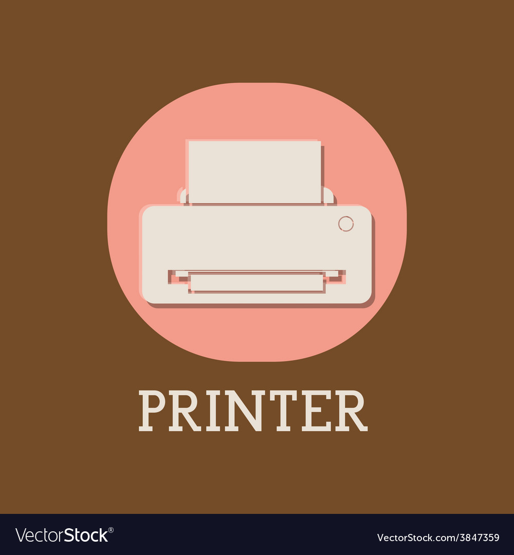 Printer design vector | Price: 1 Credit (USD $1)