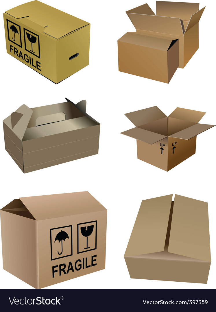 Set of boxes vector | Price: 1 Credit (USD $1)