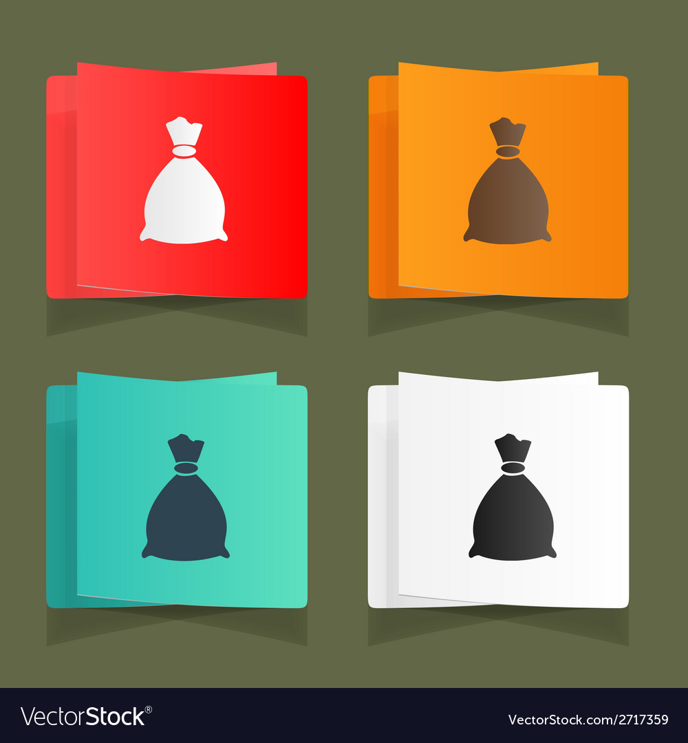 Set of vintage bags for storage eps vector | Price: 1 Credit (USD $1)