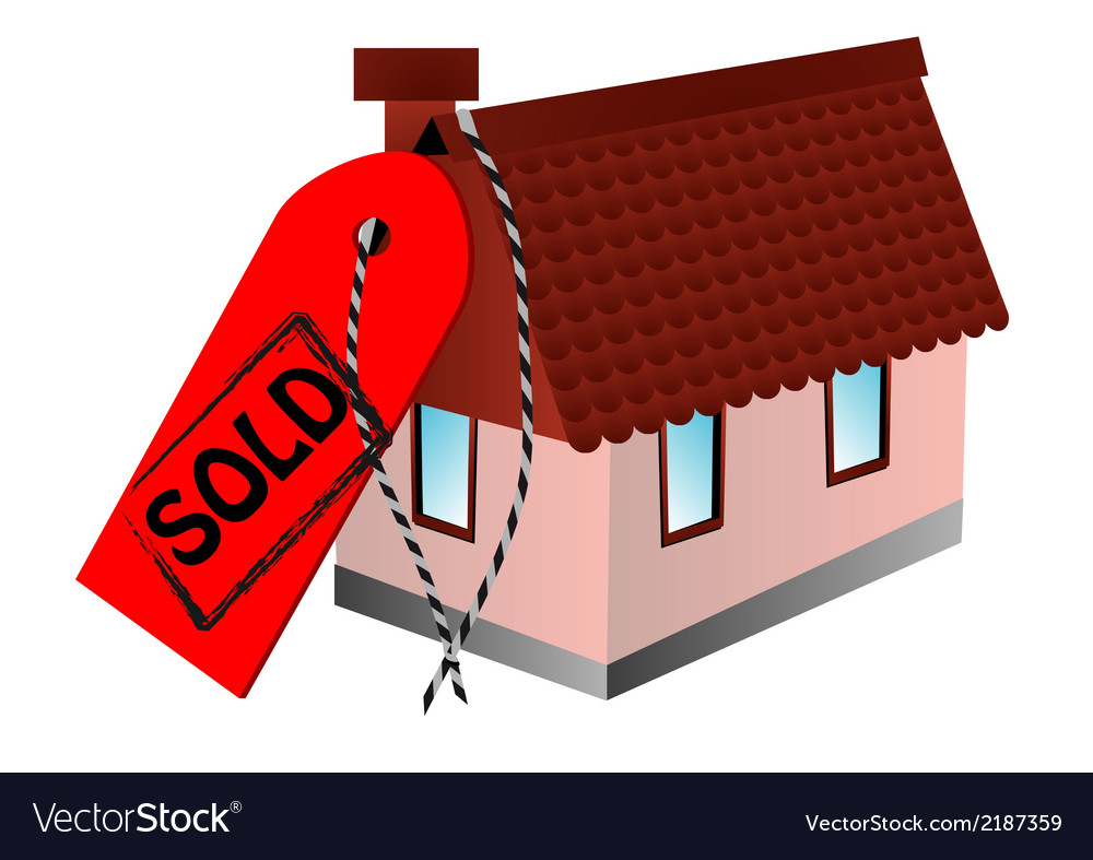 Sold sign and home vector | Price: 1 Credit (USD $1)