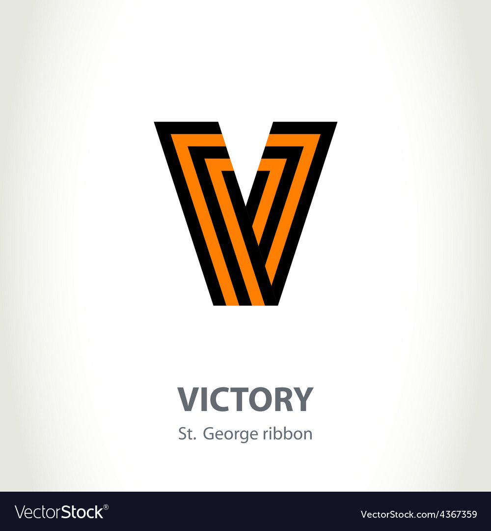 Symbol for victory day made of st george ribbon vector | Price: 1 Credit (USD $1)