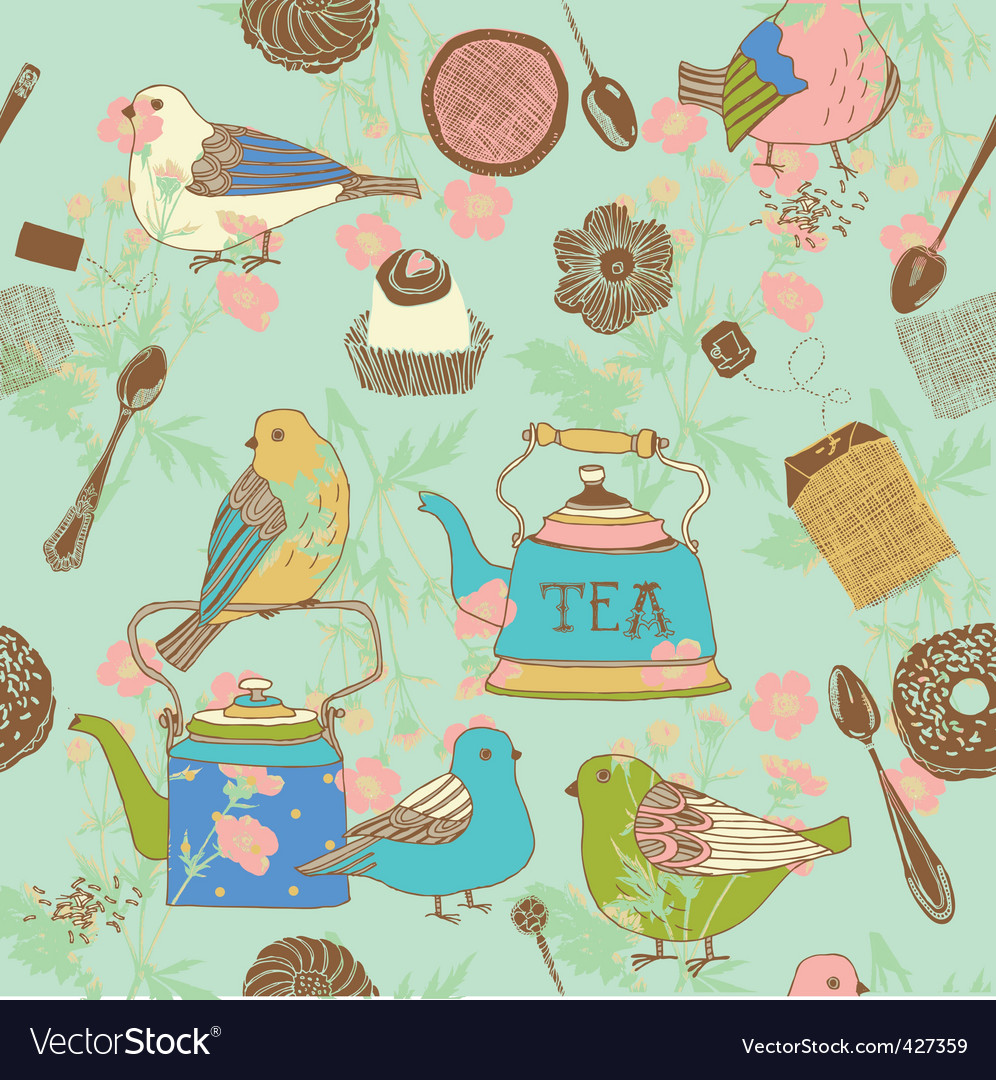 Teatime background vector | Price: 1 Credit (USD $1)