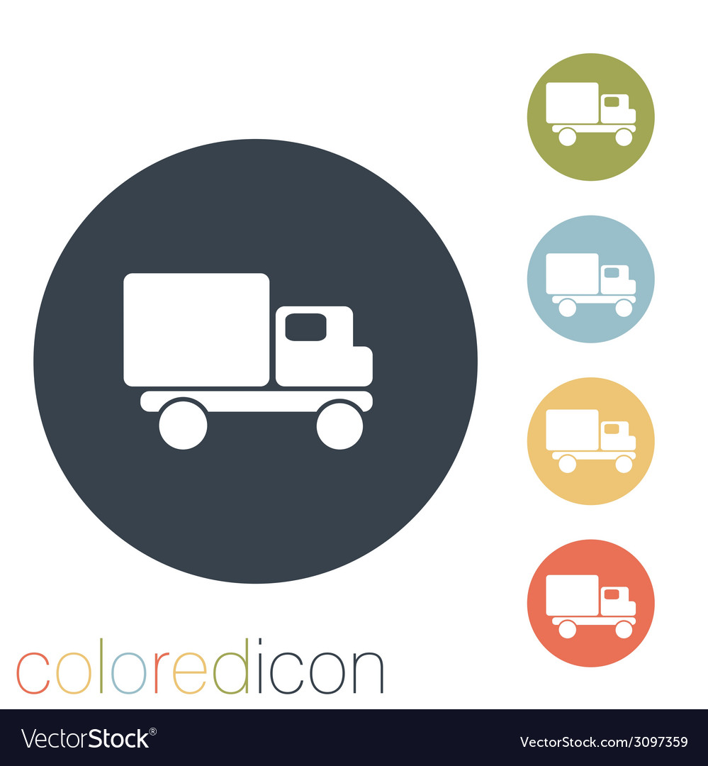 Truck logistic icon vector | Price: 1 Credit (USD $1)