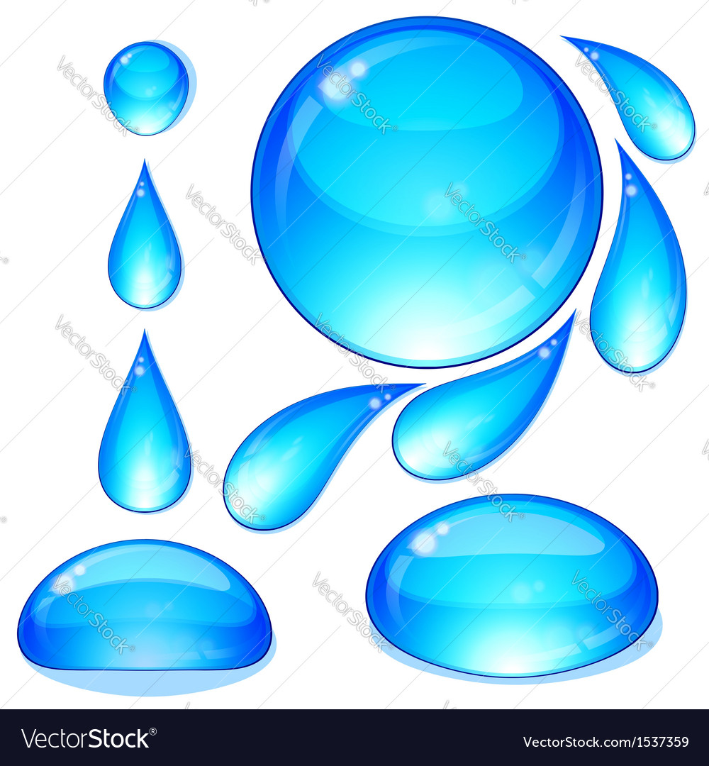 Water drops bubbles set vector | Price: 1 Credit (USD $1)