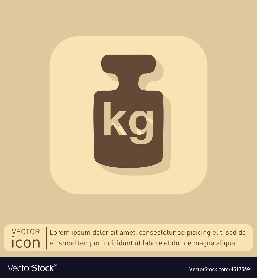 Weight icon symbol denoting a measure of weight vector   Price: 1 Credit (USD $1)