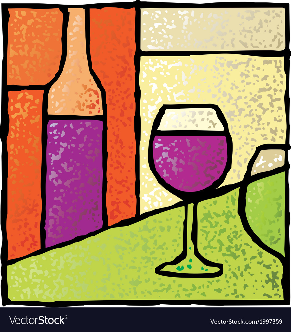 Wine stained glass vector | Price: 1 Credit (USD $1)