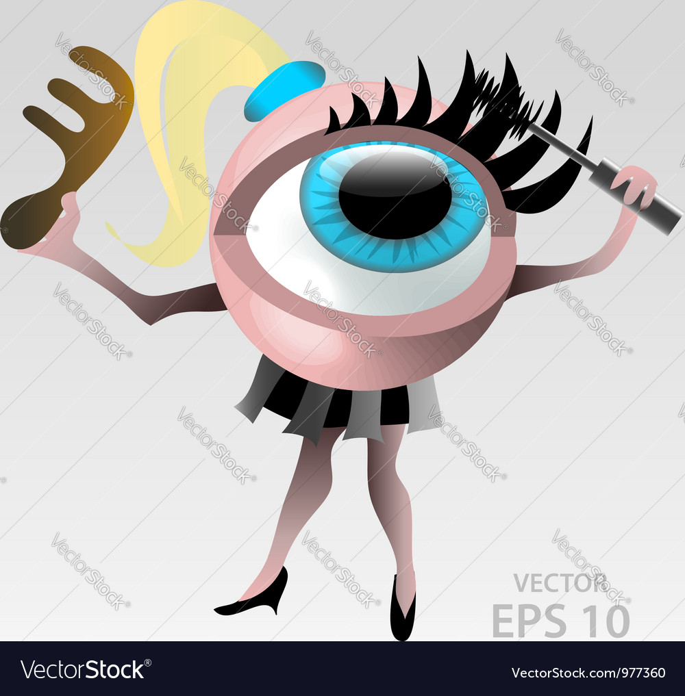 Blond eyeball makeup character vector | Price:  Credit (USD $)