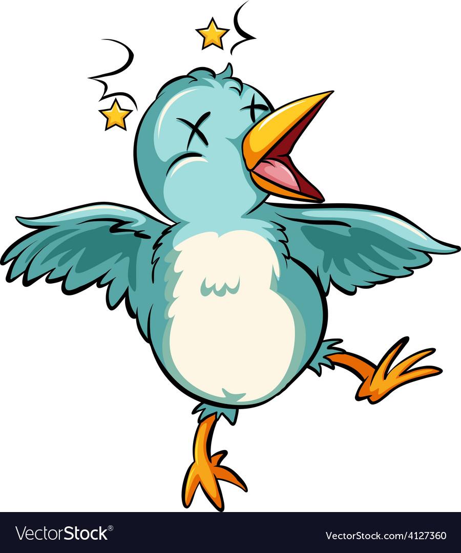 Blue baby bird vector | Price: 3 Credit (USD $3)