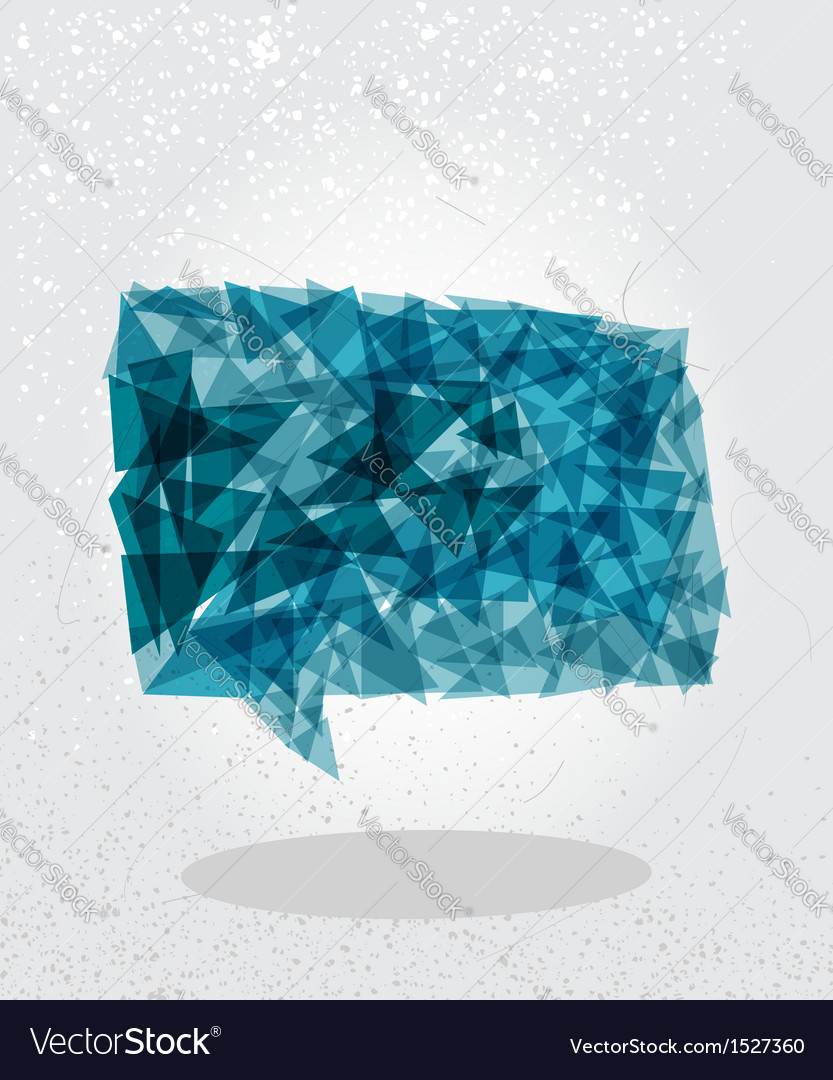 Blue social bubble geometric shape vector | Price: 1 Credit (USD $1)