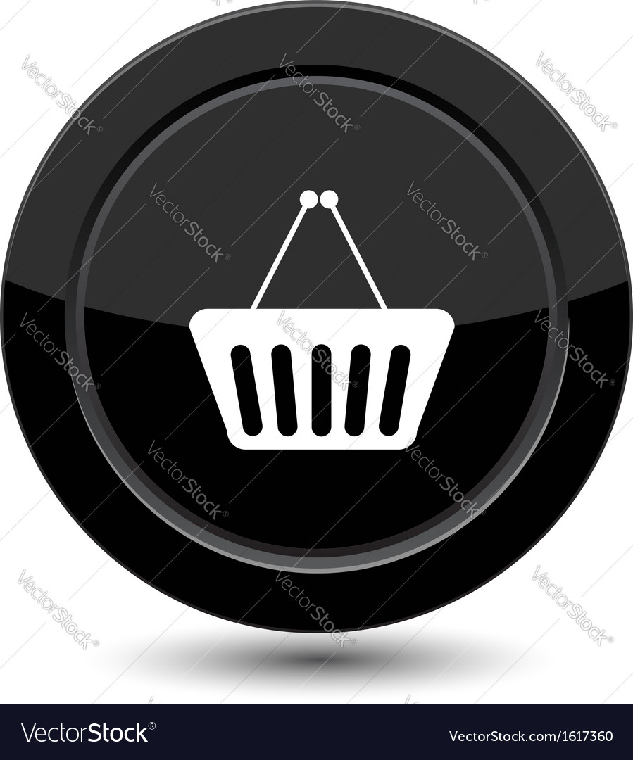 Button with shop cart vector   Price: 1 Credit (USD $1)