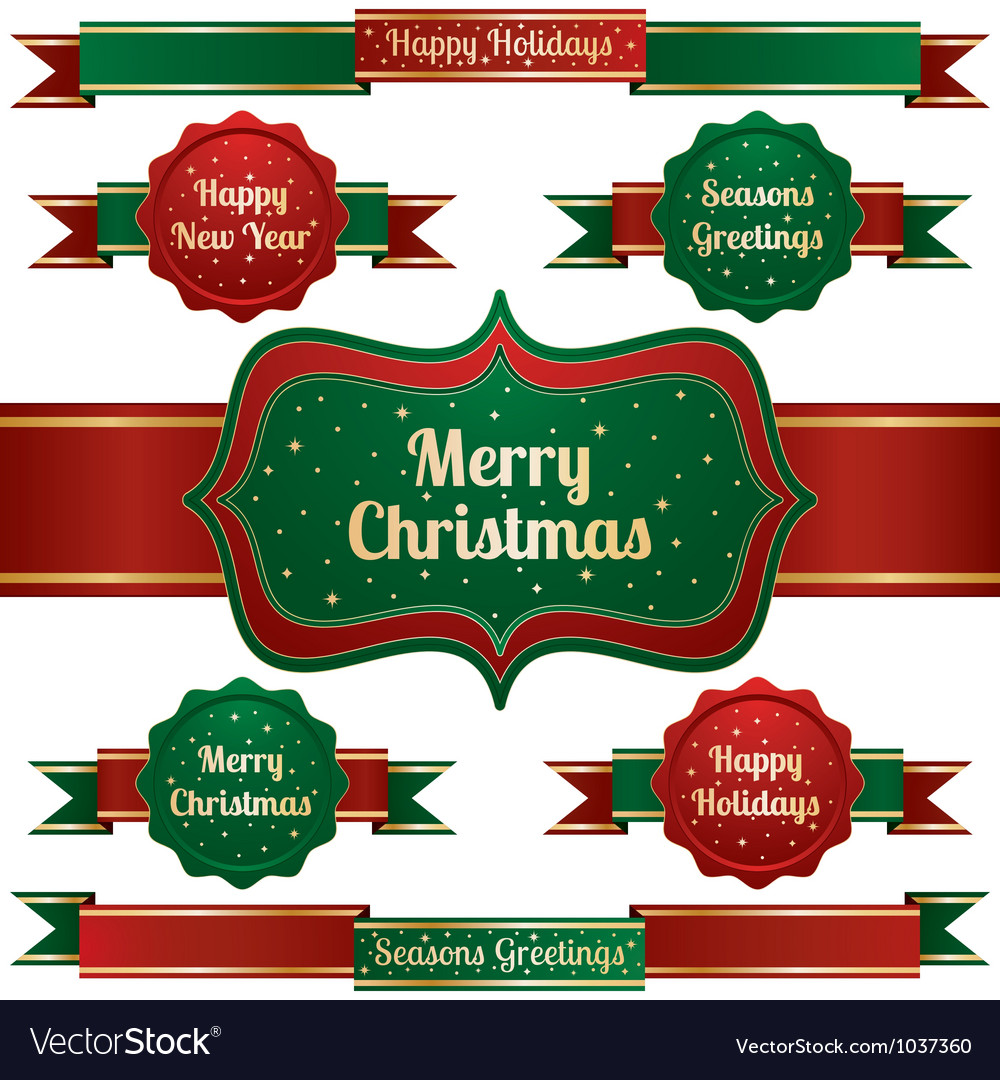 Christmas ribbons vector | Price: 1 Credit (USD $1)
