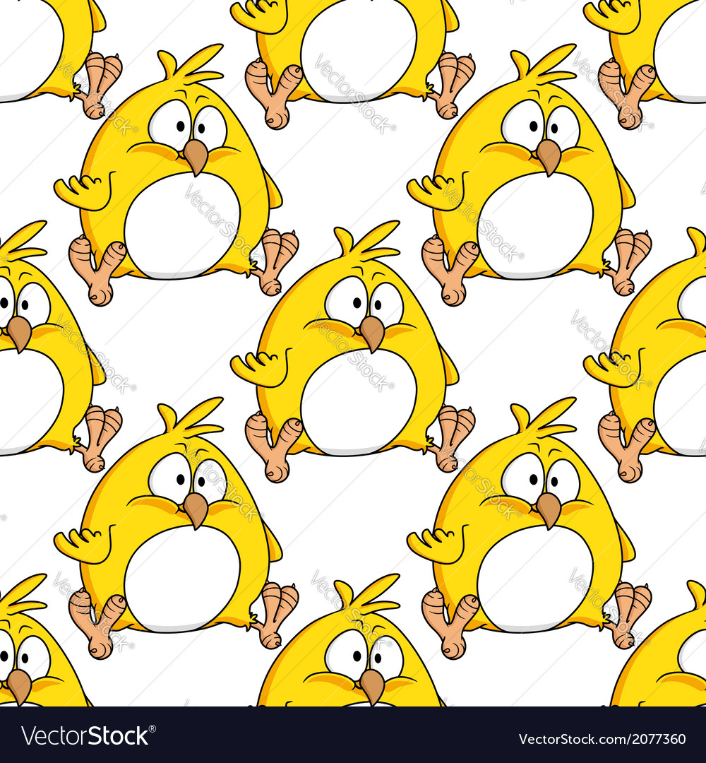 Cute little fat yellow easter chicken vector | Price: 1 Credit (USD $1)