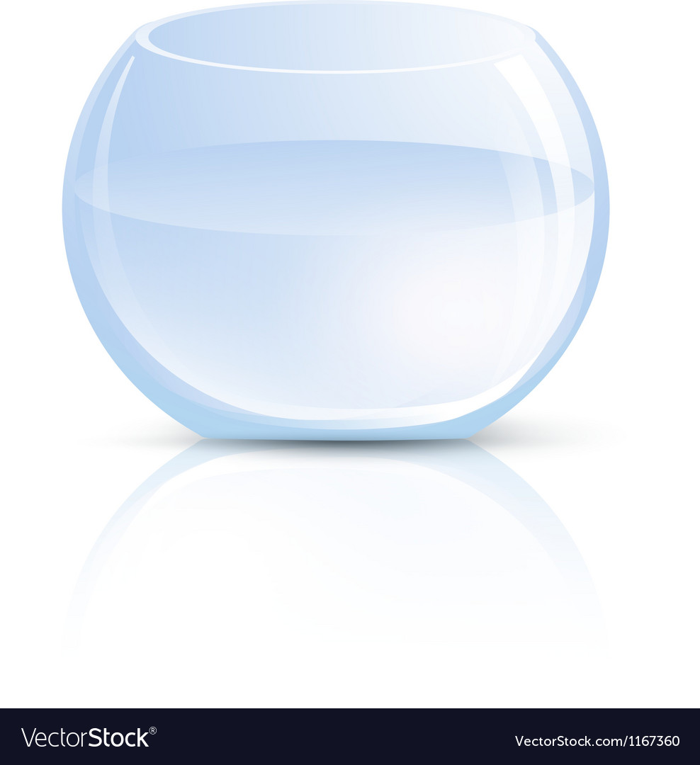 Empty glass vase or round aquarium vector | Price: 1 Credit (USD $1)